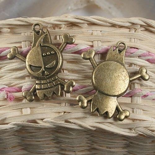 4pcs antiqued bronze robot pendant charm G944