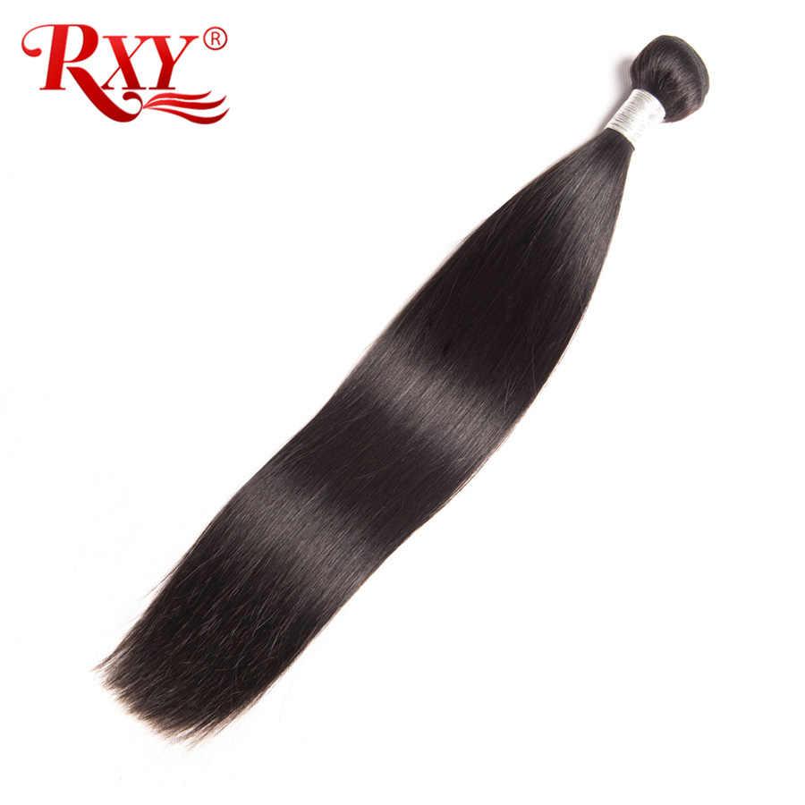 RXY Remy pasma prostych włosów 3 sztuk dużo Top brazylijski włosy wyplata wiązki 100% ludzkich wiązki włosów pokój wątek wyplata rozszerzenia