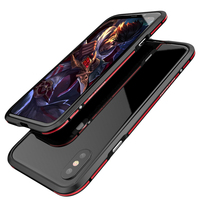 SFor IPhone 8 Case Luphie Luxury Double Color Metal Aluminum Frame Bumper Case For Apple IPhone