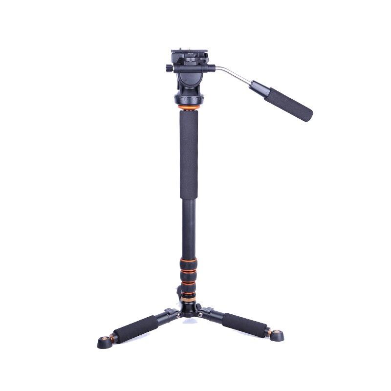 2018 chaud QZSD Q228C Pro Portable en fibre de carbone 1600mm hauteur DSLR caméra monopode 32mm Tube selfie pour vidéo numérique/caméra photo