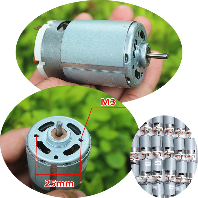 1PC New DC 12V 24V 550 High Power Motor 3400-6800 RPM Electric Tool Motor