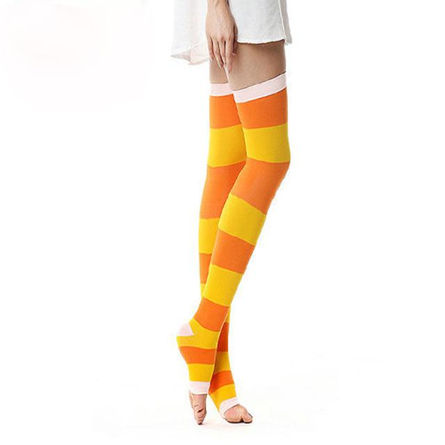 Nuevo profesional medical compresión medias para mujeres sleep anti varices medias de la raya medias meias bas botas femininas 420d