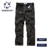 Rarebone 100 Cotton Outdoor Classic Multiple Pockets Men Pants Comfortable Cargo High Quality Zipper