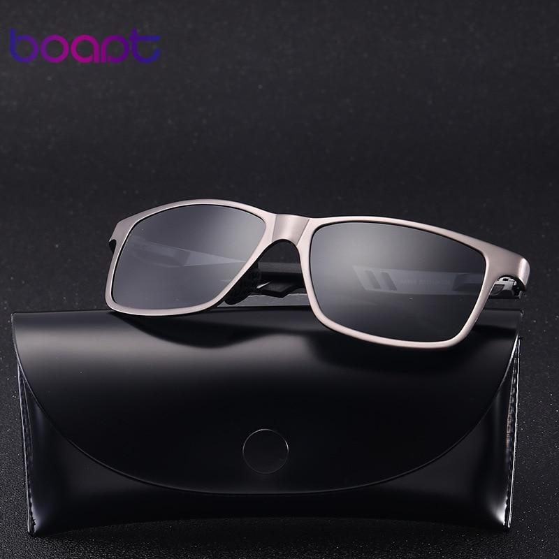 [boapt] Aluminum Polarized Male Sunglasses Mirror Vintage Sun Glasses Square Female Gafas Goggle Eyewear For Men Spectacles