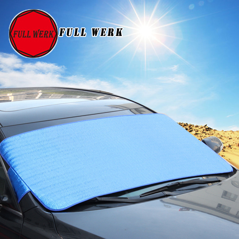 1pc Blue Window Foils Windshield Sun Shade Cover Car Visor Cover Block Front Window Sunshade Protect Car Window Film