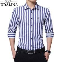 DUDALINA 2020 New Fashion Striped Shirt Men Long