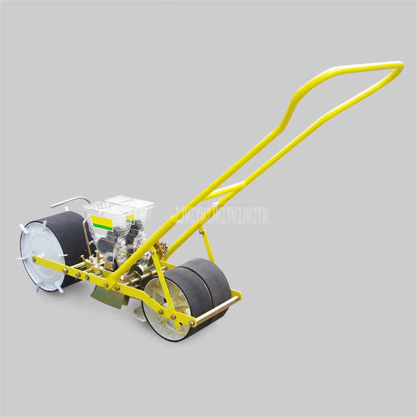 Two Line Row Seedsplants Hand Push Seeder Machine Carrots Spinach Carrot Seed Disseminators Vegetable Seed Sowing Plant Tool