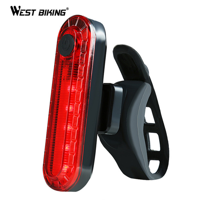 WEST BIKING Bike Light 4 Modes USB Rechargeable LED Taillight Super Bright Cycling Tail Light Safety Warning Flash Bicycle Light