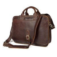 Top Grade Fashion Men S Messenger Vintage Real Crazy Horse Leather Briefcase Male 14 Laptop Handbags