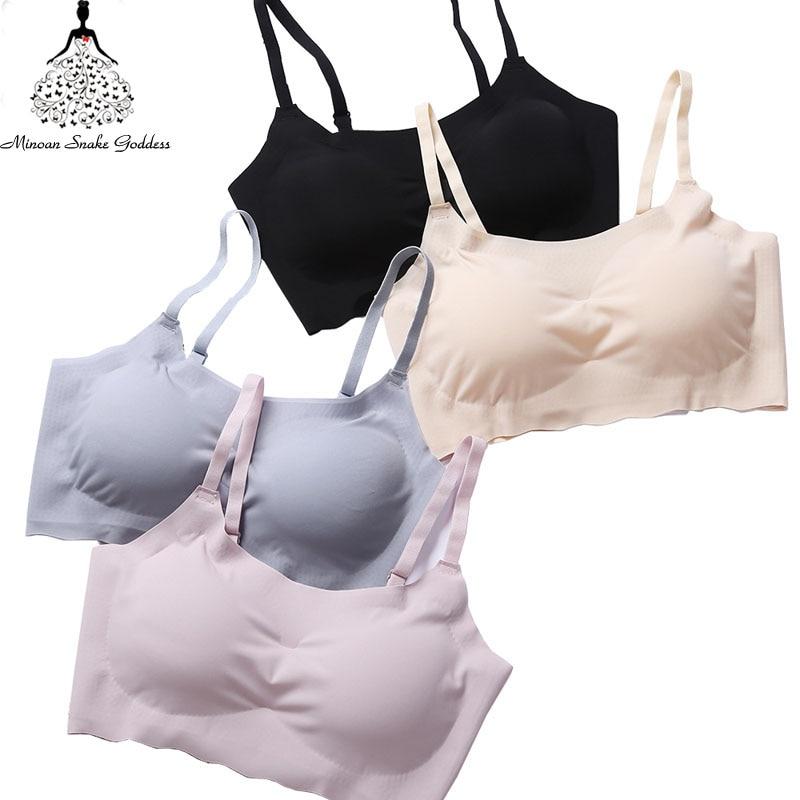 Sexy Bralette Seamless Bras For Woman Lingerie Brassiere Bra Underwear Women Ultra thin Padded Woman Bra Comfortable Breathable 2