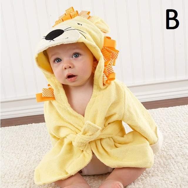 8b16d46434 placeholder Super soft 100% cotton baby bathrobe animal character hooded  baby bath robe hooded kids bathrobes