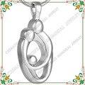 CMJ8278 Mamá Papá Del Niño collar de las cenizas de Cremación recuerdo de acero inoxidable joyería de recuerdos