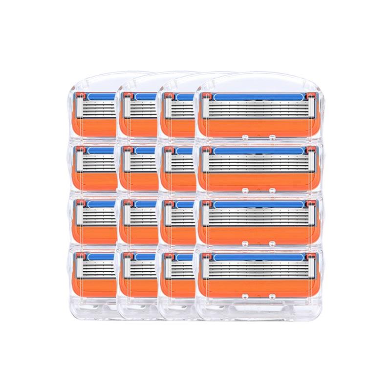 16Pcs/lot Men Razor Blades High Quality Shaving Cassettes Facial Care Men Shaving Blades Compatible Gillettee Fusione