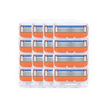 16 шт./лот для мужчин бритвы лезвия высококачественные, для бритья кассеты уход за лицом лезвия для бритья Совместимость Gillettee Fusione