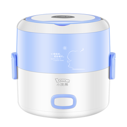 Lotor Electric Heated Lunch Box 304 Stainless Steel 2 Layers 1.3L Mini Multi Rice Cooker Mini Portable