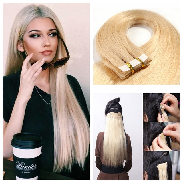 Rosa Hair Products Peruvian Virgin Human Hair Tape In Extensions