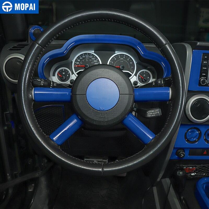 MOPAI voiture tableau de bord volant haut-parleur évent décoration intérieure Kit de couverture pour Jeep Wrangler JK 2007-2010 accessoires de voiture - 3