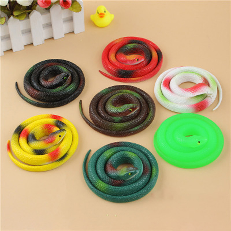 Simulation Rubber Soft Fake Snake Deceives Novelty Fun Toy  Children's Toys Prank Surprise Boys Interesting Snake Toy Kid's Gift
