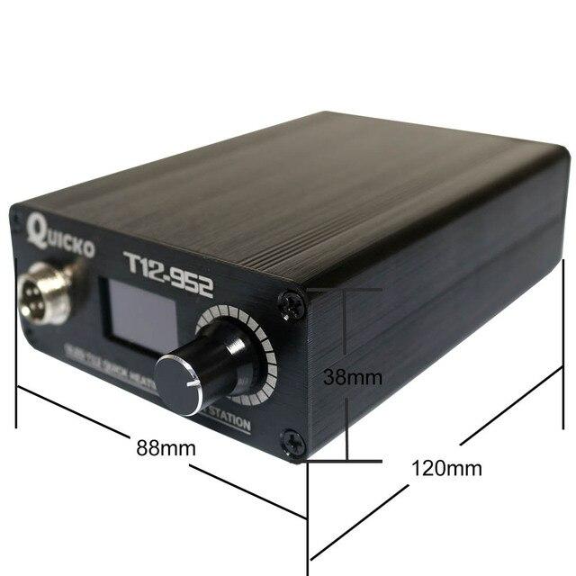 Estación de soldadura T12 de calentamiento rápido, Hierro de soldadura electrónica 2019, nueva versión STC T12 OLED, soldador Digital T12-952 QUICKO