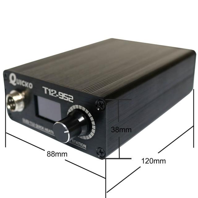 Stc T12-952 oled estação de solda eletrônico digital 0.96 display com suporte de ferro c011/fio estanho solda/T12-K ferro de solda
