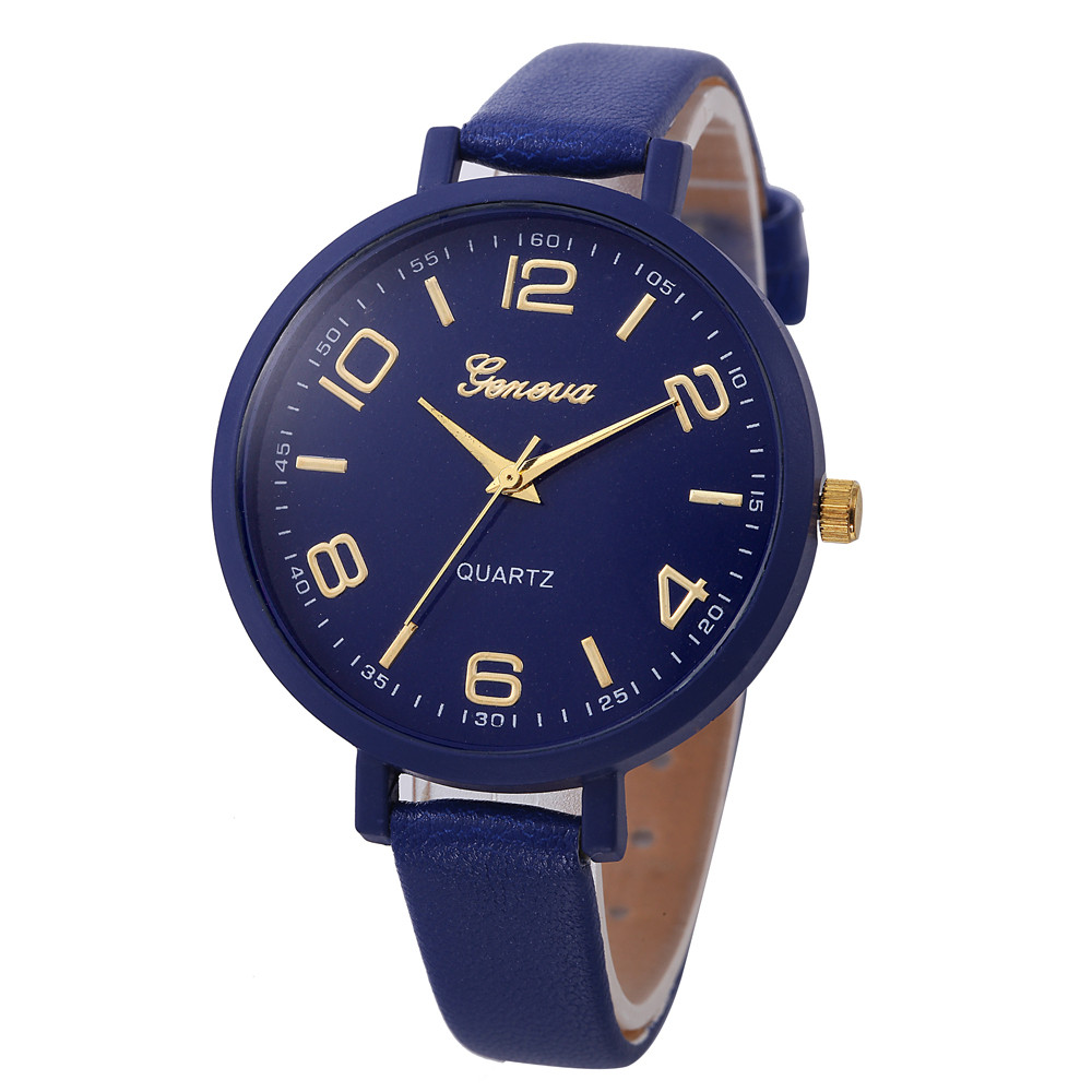 Hot! Fashion Watch Bracelet Colorful Casual Women Luxury Brand Womens Mens Unisex Faux Leather Analog Quartz Wrist Watch Y797