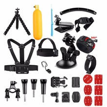 For AKASO Gopro Accessories set for go pro hero 5 4 3 kit mount for SJCAM for SJ4000 / for xiaomi for yi 4k for eken h9 VS84