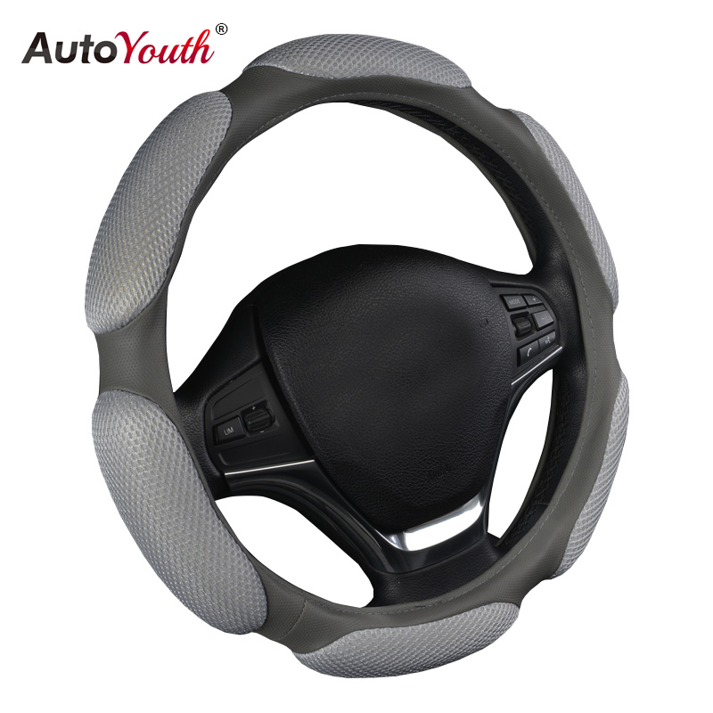 AUTOYOUTH Classic Breathe Massage Car Steering Wheel Covers Universal Fit For BMW Audi Ford Kia font