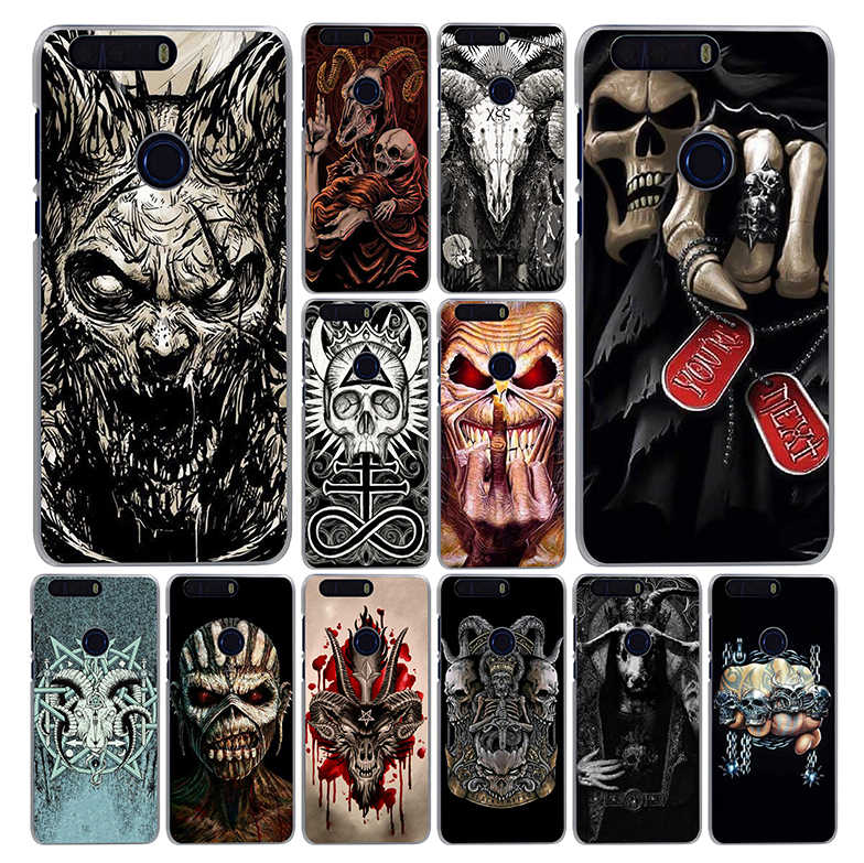 Lavaza Satanic Scary Skull Phone Case for Huawei Honor Note 10 Play 10 9i 9 8C 8X 8 Lite 7X 7A 6C Pro 6A