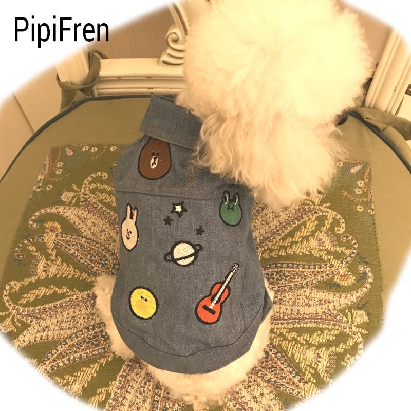 PipiFren Nyári kis kutyák Ruhák T-ingek tavaszi háziállatokban - Pet termékek - Fénykép 1