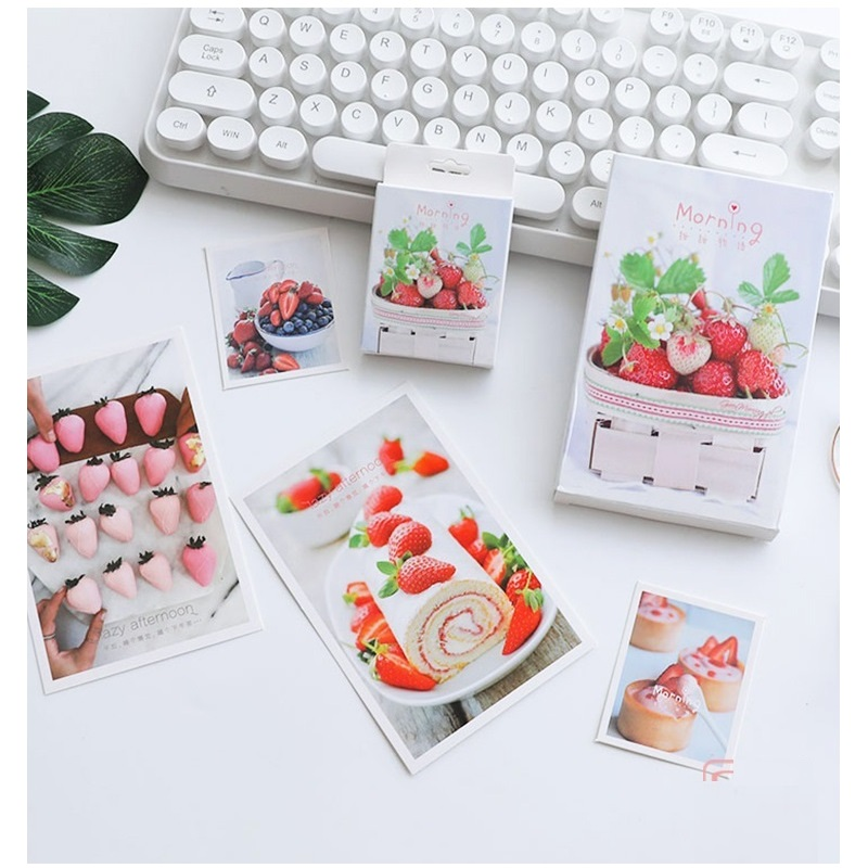 30 Sheets/Set Creative Strawberry Fruit Postcard/Greeting Card/Message Card/Birthday Letter Envelope Gift Card