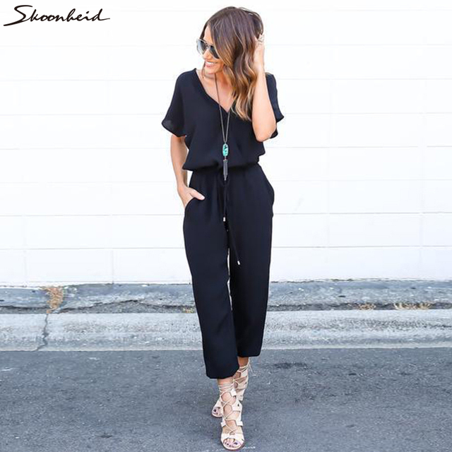 16914f522e1 2017 New Summer Sexy Bodysuits Fashion Slim Women s Clothing 3 Colors Ross  Straps Jumpsuits Long Pants