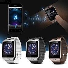 DZ09 Relojes Inteligentes Dispositivos Portátiles con Cámara Relojes relogio Smartwatch Bluetooth Apoyo TF Tarjeta SIM Para Ios Android Móviles