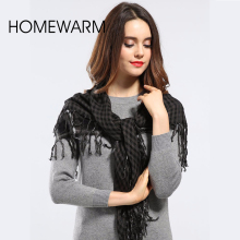 winter plaid scarf 2016 women tartan Plaid Scarf Cuadros New Designer Unisex Tassel Basic Shawls warm bufandas Scarf for Women
