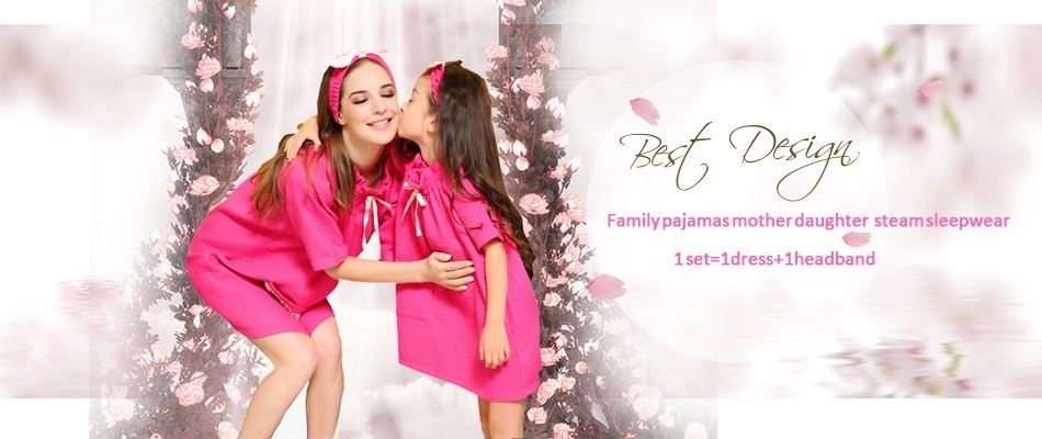 Family pajamas steam dress