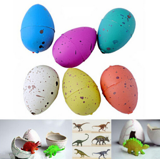 6PCS  Magic Water Growing Dino Egg Hatching Colorful Dinosaur Add Cracks Grow Eggs Cute Children Kids Toy For Boys