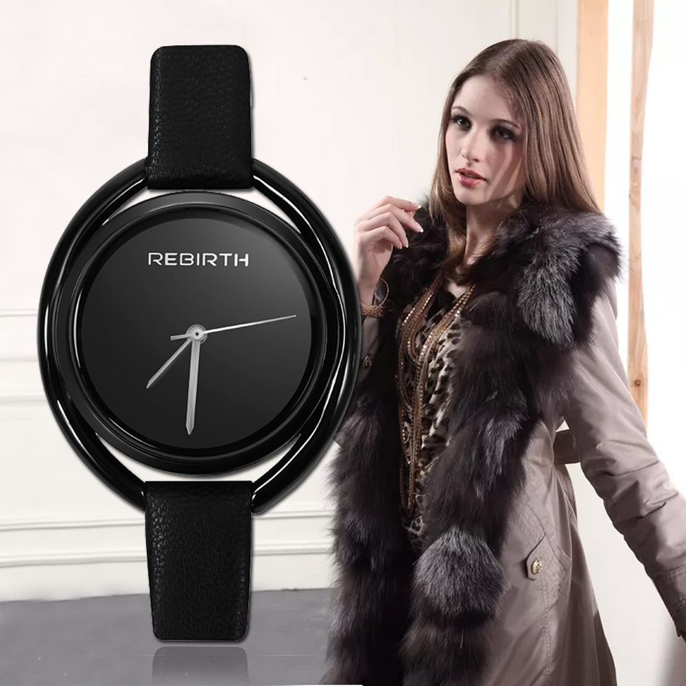 REBIRTH Luxury Women's Watch 2018 Top Brand zegarek damski Fashion Ladies Watches For Women Bracelet Rose Gold Bayan Kol Saati simple style mesh steel women watches top brand luxury rose gold black ladies quartz hours woman dress watch bayan kol saati
