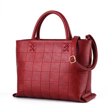 New Occident Style font b Handbag b font Women Trendy Plaid Cross Pattern Designer Bag Ladies