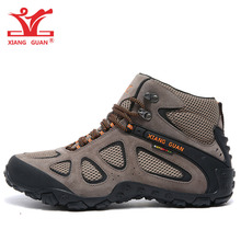 Man Hiking Shoes Men Outdoor Waterproof Breathable Leather M