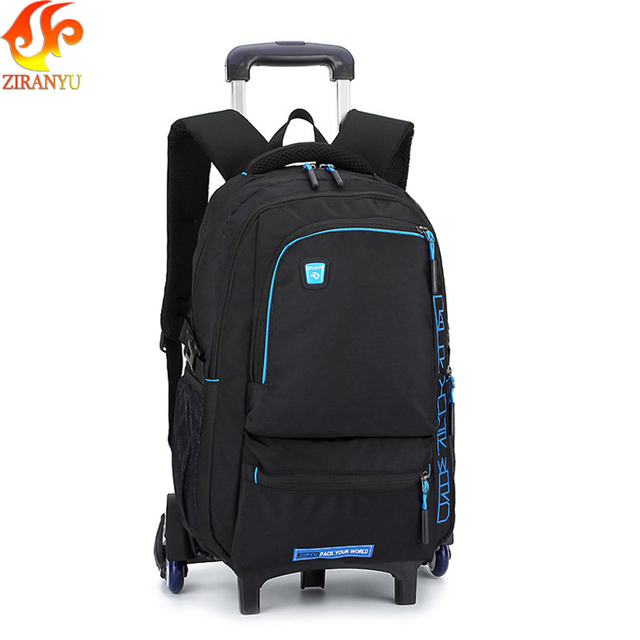 ZIRANYU Latest Removable Children School Bags With 6 Wheels Stairs Kids boys girls backpacks Trolley Schoolbag Luggage Book Bags School Bags