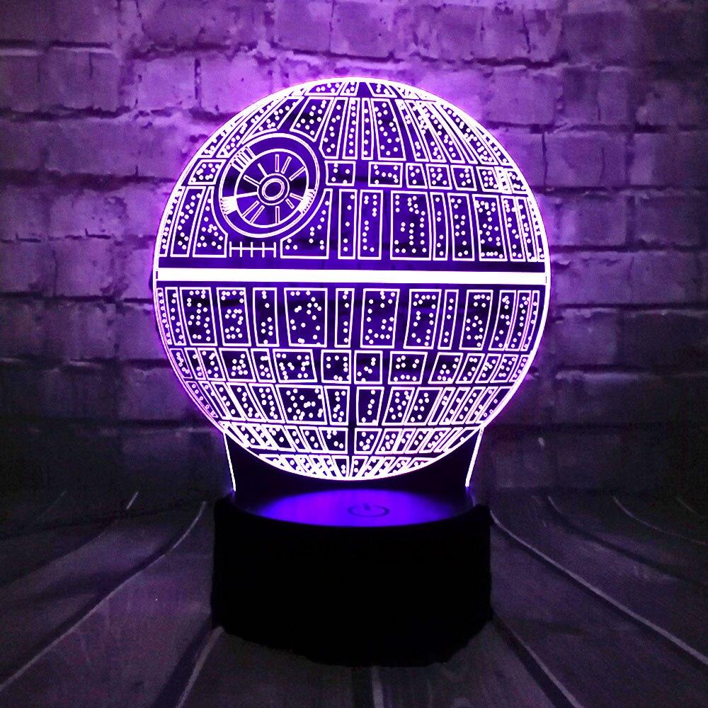 Offre spéciale film Star Wars 3D USB lampe à LED Astro dessin animé étoile de la mort coloré boule ampoule atmosphère lave veilleuses éclairage cadeaux