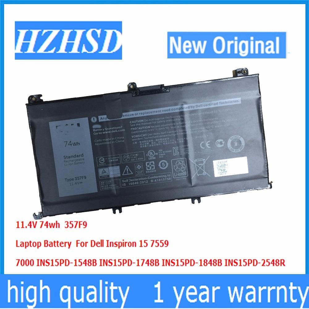11.4V 74wh New Origin 357F9 Laptop Battery For Dell Inspiron15 7559 7000 INS15PD-1548B INS15PD-1748B INS15PD-1848B INS15PD-2548R