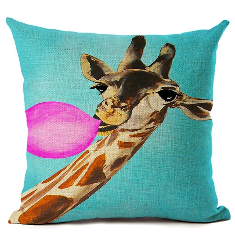 Amerikan Dizayn Kətan Yastıq Yastığı Yastıq Rəngarəng Züraf - Ev tekstil - Fotoqrafiya 2