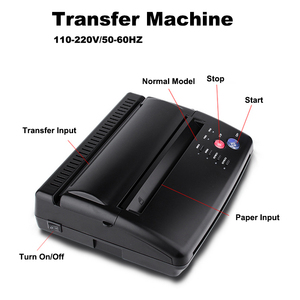 Image 1 - Tattoo Transfer Machine Kopie Stencil Machine Printer Tekening Thermische Stencil Maker Copier Voor Tattoo Transfer Paper Supply