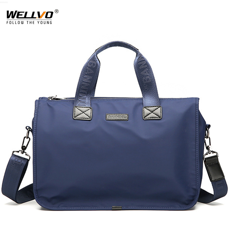 Men Briefcase Bag Men's Shoulder Bags High Quality Oxford Casual Belt Messenger Bag Business Crossbody Male Travel Tote XA301ZC