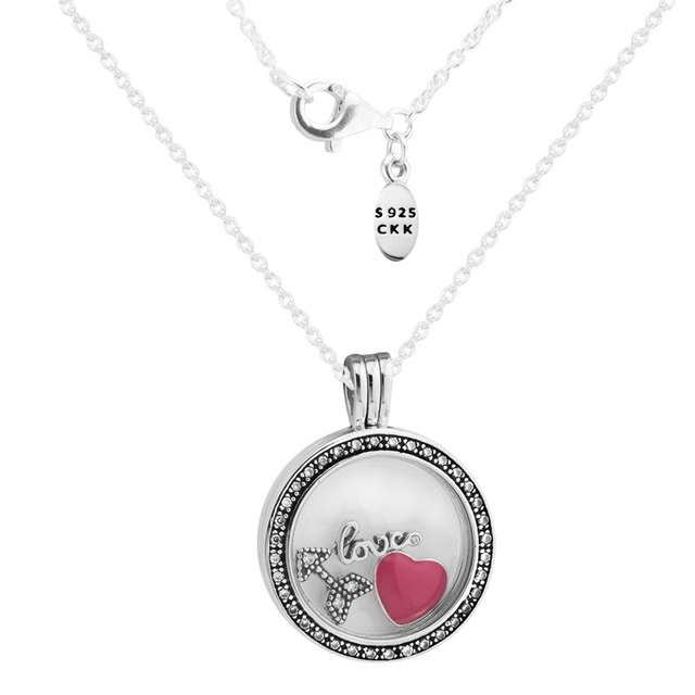 Medium fandola floating locket pendant necklace with inner 3pcs medium fandola floating locket pendant necklace with inner 3pcs small love feelings parts 100 aloadofball Choice Image