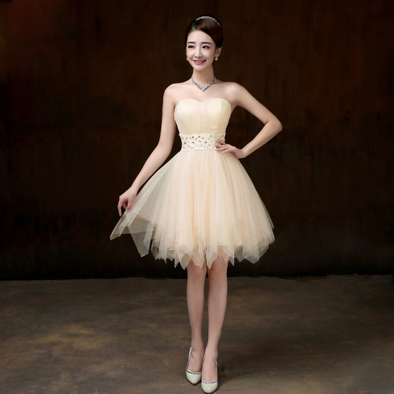 Short white bridesmaid dresses reviews online shopping for Wedding dresses from china reviews