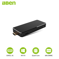 Bben Mn10 MINI PC Computer 3GB DDR3L RAM 64B ROM EMMC Cooling Fan Wifi 2 4G