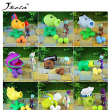 [Jkela] 28styles New Game PVZ Plants vs Zombies Peashooter PVC Action Figure Model Toys anime figurine pea sunflower Melon 10CM