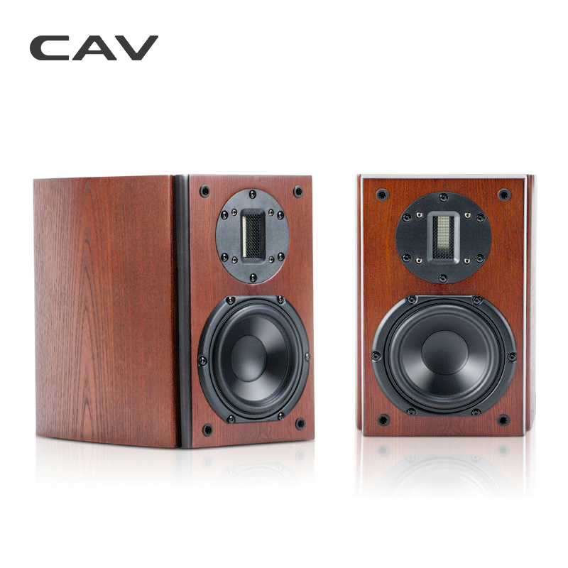 CAV FL-21 High End Bookshelf Speaker Wood Veneer Finished High Fidelity Home Theater HI-FI Boxes Combination HI-FI Speakers