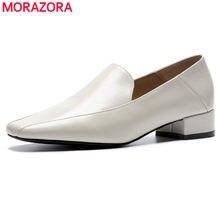 682e6e631 MORAZORA 2019 qualidade superior genuína sapatos de couro mulheres bombas clássicos  sapatos de trabalho sapatos de